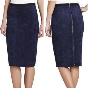 BCBGMaxAzria Faux Suede Pencil Skirt NWT